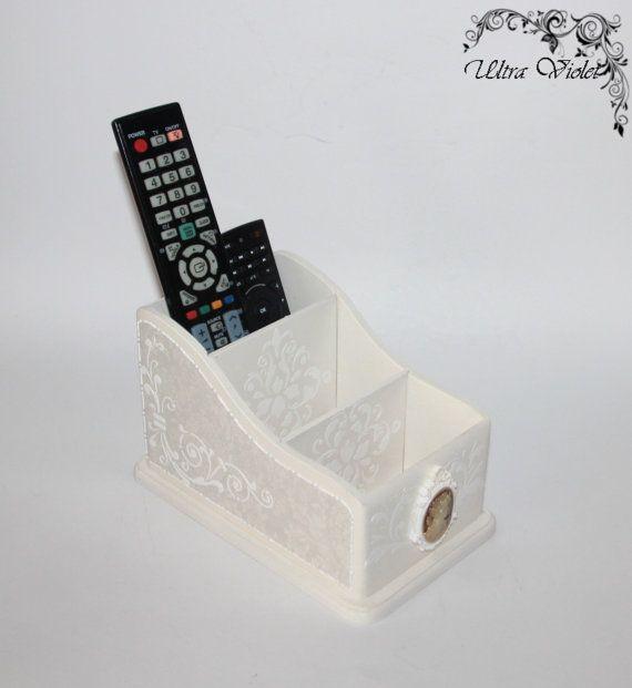 TV Remote Control Holder, mobile phone holder, business card holder, pen holder, holder, box-shaped parking for TV remotes,
