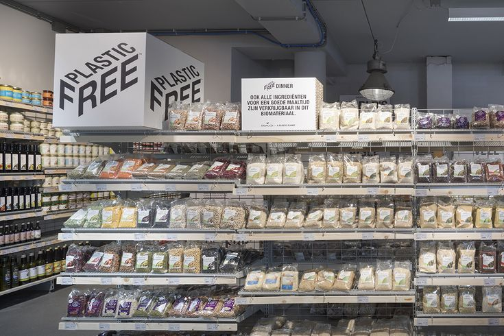 Organic supermarket chain EkoPlaza teams with an anti\u002Dplastic waste group to launch a supermarket aisle liberated from plastic packaging.