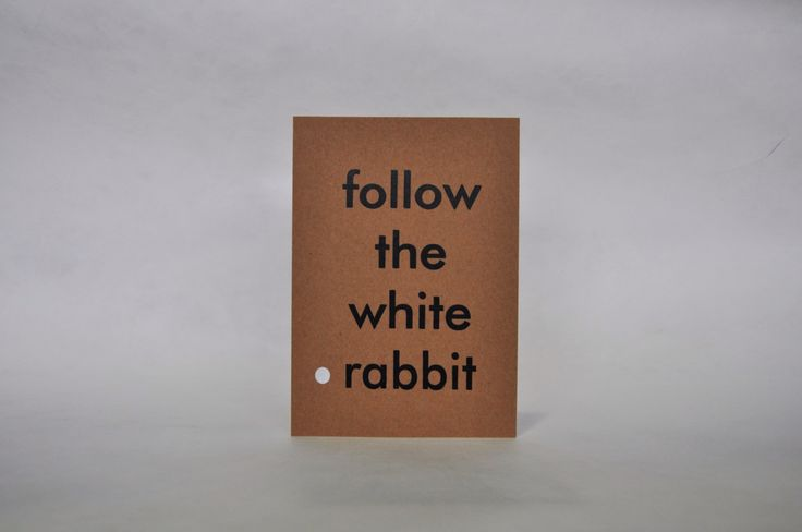 Follow the white rabbit. Wall decor. Recycled paper. di IntoTheTreees su Etsy https://www.etsy.com/it/listing/220658491/follow-the-white-rabbit-wall-decor