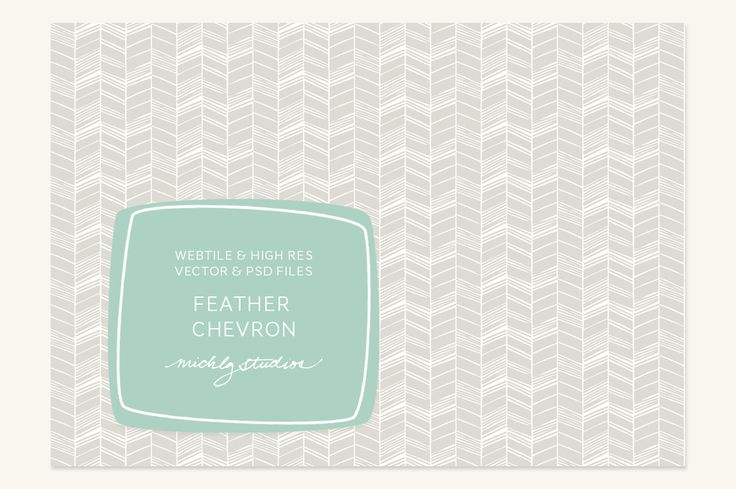 VECTOR & PSD Feather Chevron tile & by michLg studios on @creativemarket