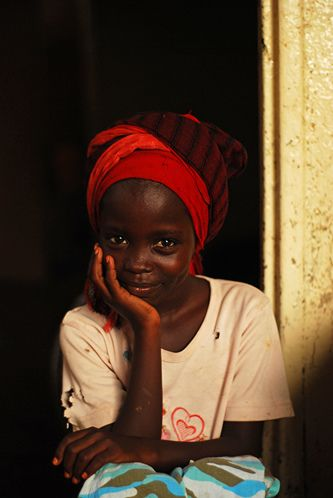 Beautiful little girl smiling in Djibouti, Africa
