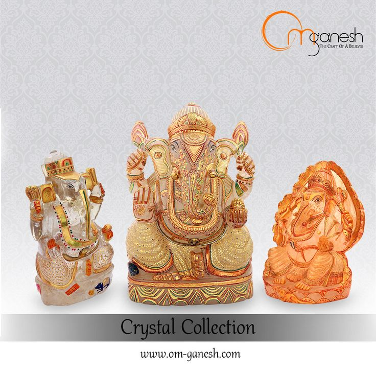 Beauty confines itself in these idols of Lord Ganesha, crafted from crystals, which cleanse the negative aura and provides healing to the soul.