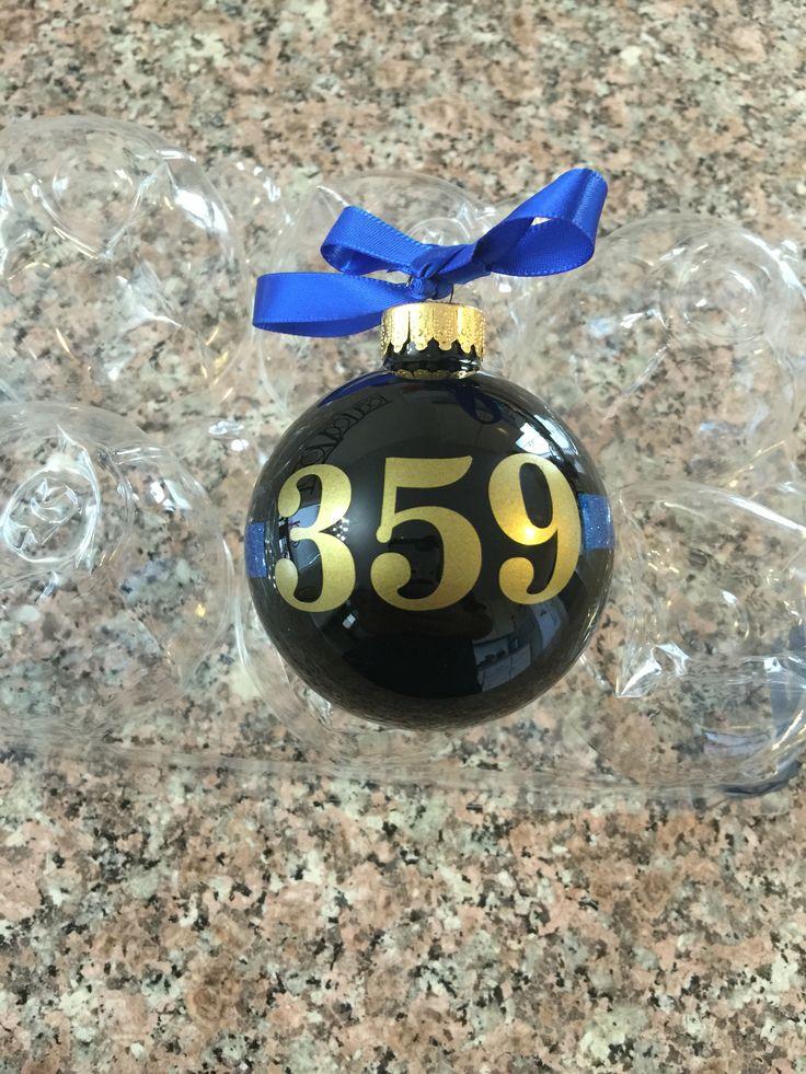 Thin blue line Christmas ornaments