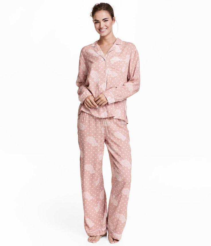 H&M - pyjamas skjorte og bukse 299 kr