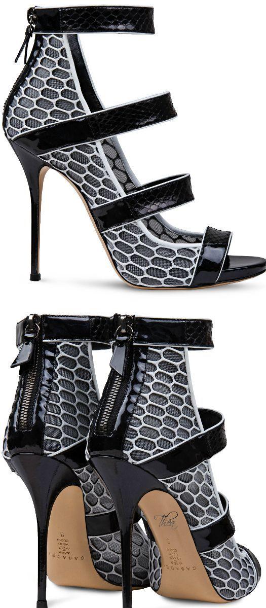Shoe Crush: Casadei ● Graphic Snakeskin Sandal