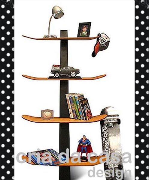 kast skateboard mbeljugendlichewerkstattskateboard dekorskateboard regale skateboardrampenkinderzimmerbcherregal - Skateboard Regal Kinder Schlafzimmer