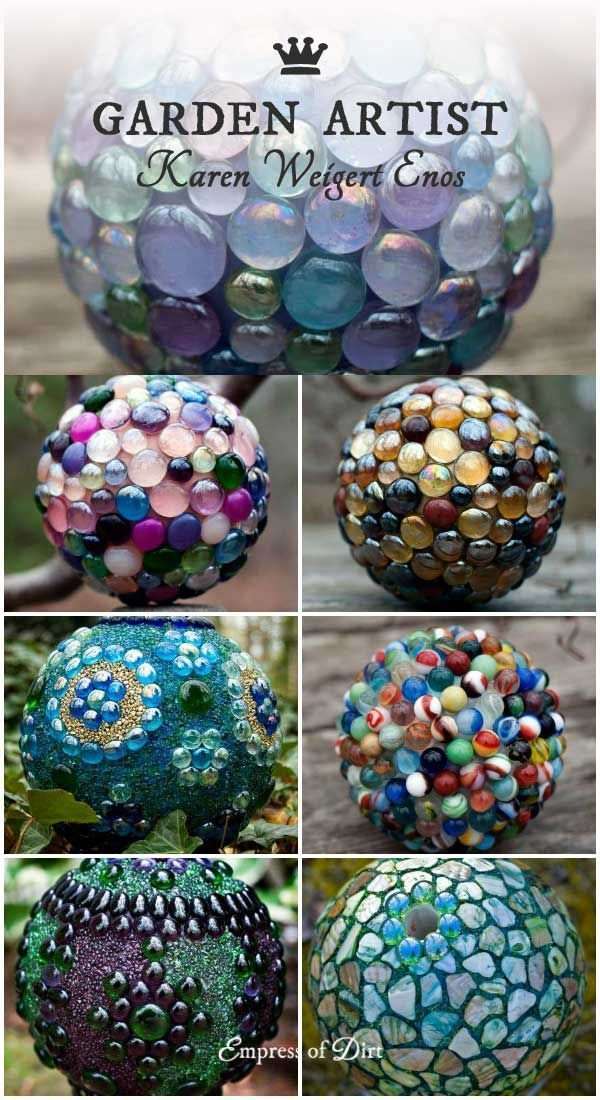 Garden Art Orbs with Artist Karen Weigert Enos
