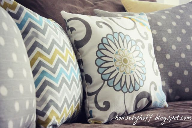 Making Decorative Bed Pillows : House by Hoff: Mixing Throw Pillows Living Room Decorating Ideas Pinterest Throw pillows ...