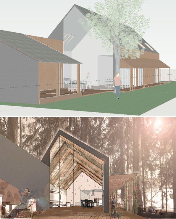 Nella Borovenová, Bakalářská práce 05-2016, Rodinný dům s lanovým parkem