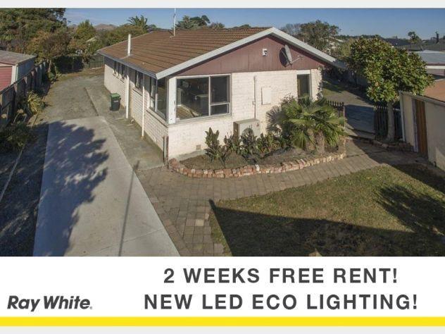 2 weeks free rent. New LED lighting