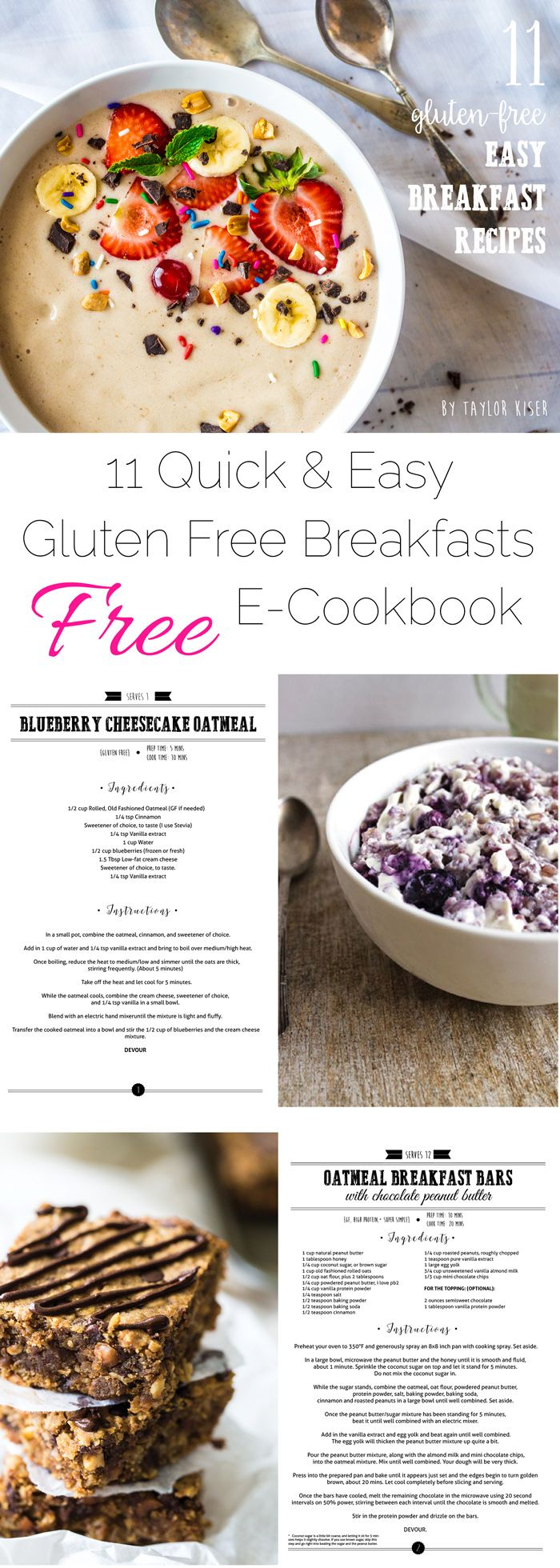 Do you need some healthy, gluten free breakfast inspiration?! Then you NEED this FREE e-cookbook that has 11 amazingly delicious recipes! | Foodfaithfitness.com | @FoodFaithFit