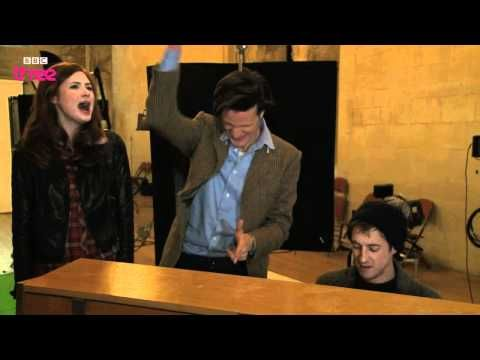 "Doctor Who cast ""sing"" ""Have Yourselves a Merry Little Christmas""...  Well, Mr. Darvill plays the piano well, Ms. Gilllian sings/wails nicely, and Mr. Smith sings nicely when  you can hear him over Ms. Gillian. Overall, it's impossible to not laugh really hard when watching this."