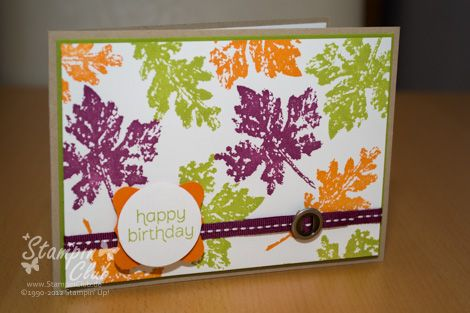 Stampin Up Karte Geburtstag Birthday Gently Falling Herbst Fall Autumn Made for you_