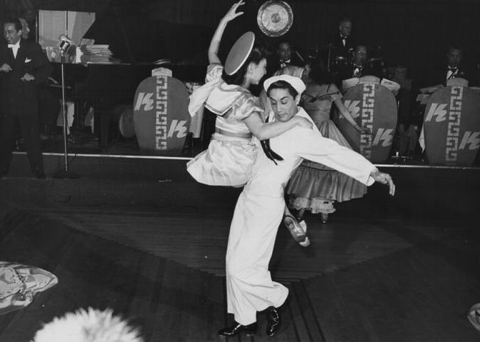 Tony Wing and partner tear up the dance floor at the Kubla Khan in the 1940s.