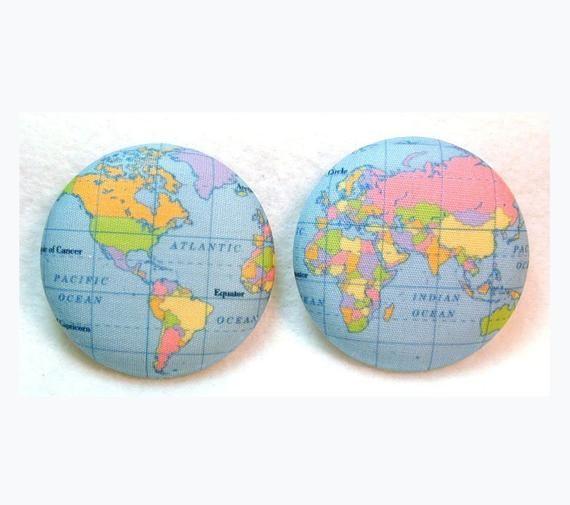 Картинка глобуса и карты полушарий