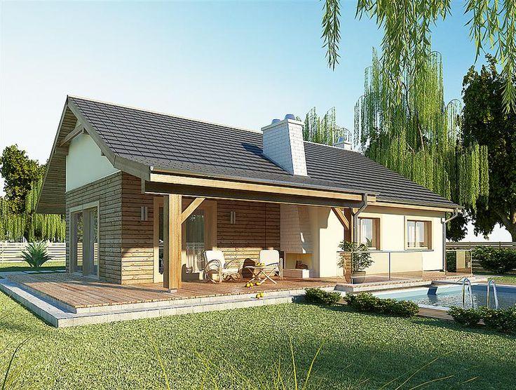 Casa doar cu parter si suprafata de 130 metri patrati, cu trei dormitoare, terasa si garaj -  imagini si proiect