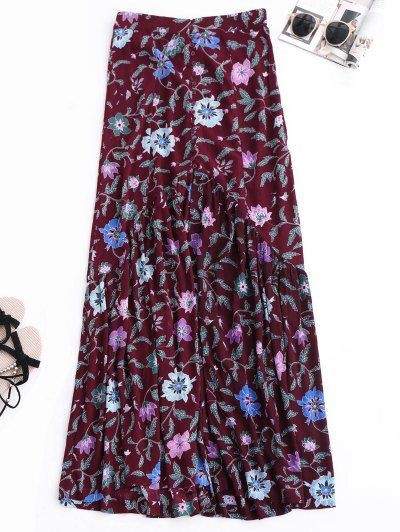 SHARE & Get it FREE   Maxi Buttoned Slit Floral SkirtFor Fashion Lovers only:80,000+ Items • New Arrivals Daily Join Zaful: Get YOUR $50 NOW!