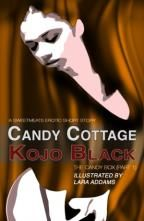 THE CANDY BOX by Kojo Black is the first of two novellas. Anything goes in the Candy Cottage as long as your naked! Illustrated by Lara Addams.