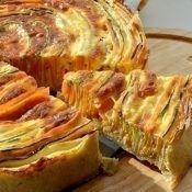 Пирог «Овощная идиллия» в духовке