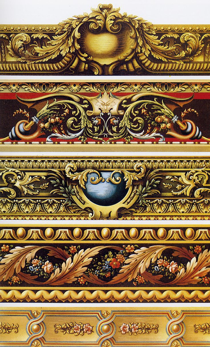 "trims XVII-XVIII centuries, gobelin (tapestry) borders.  ""Орнамент всех времен и…"