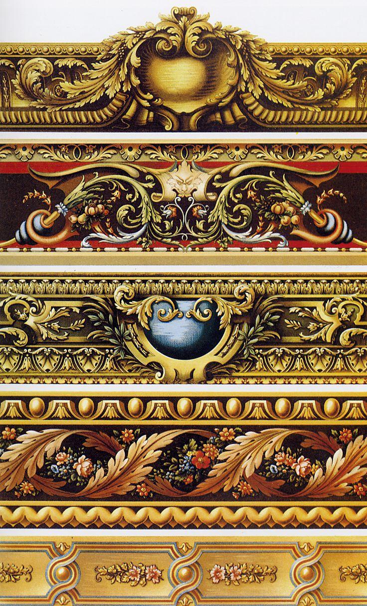 "XVII-XVIII centuries, gobelin (tapestry) borders.  ""Орнамент всех времен и стилей"", Том II. Москва, 2004. ""L'ORNEMENT POLYCHROME"", Paris, 1888."