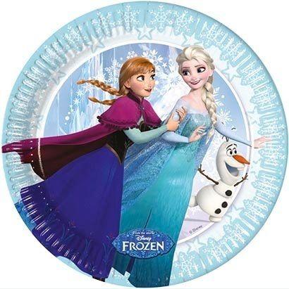 Frozen Ice Skating talíře 8ks 20cm | BALONKY .CZ