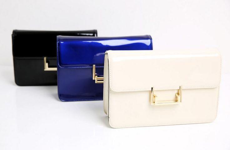 StyleOnMe_Patent-leather Mini Handbag
