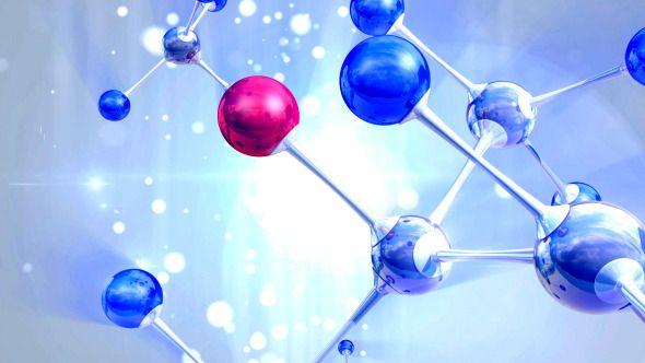 3D Molecule Background
