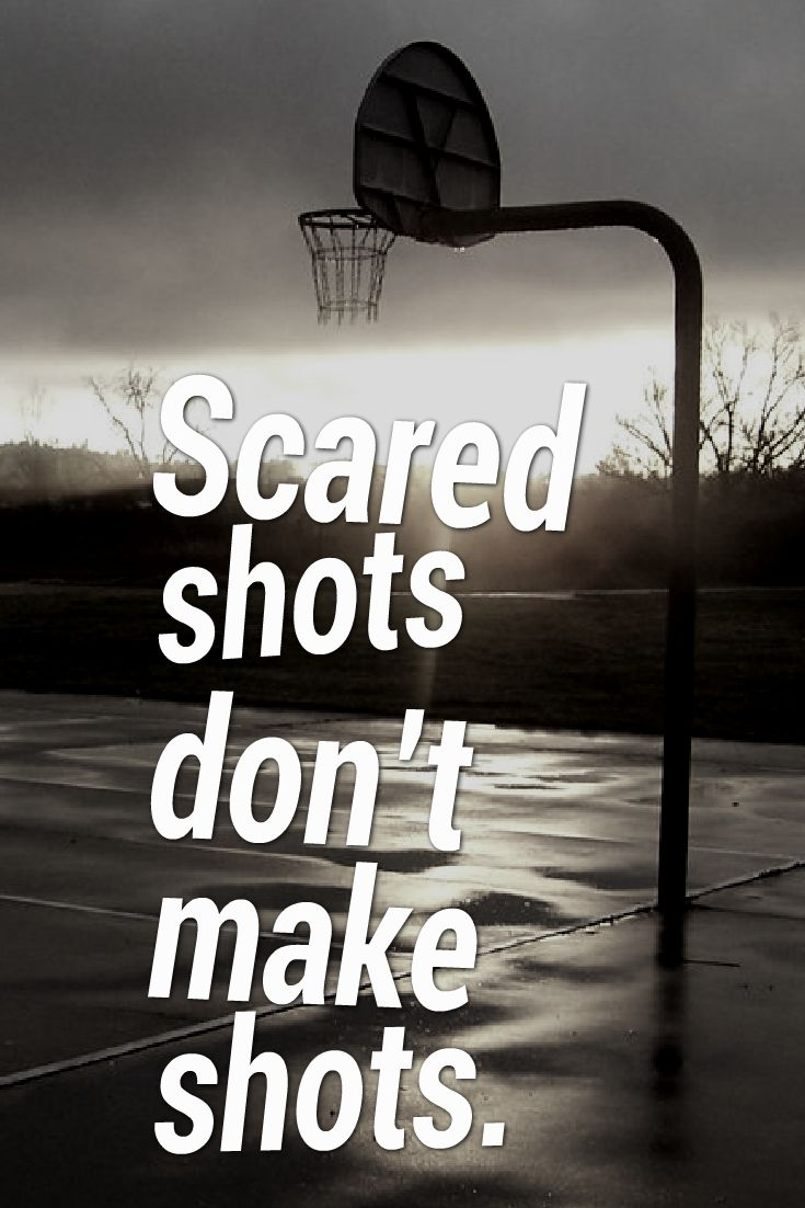 how to stop being scared in basketball