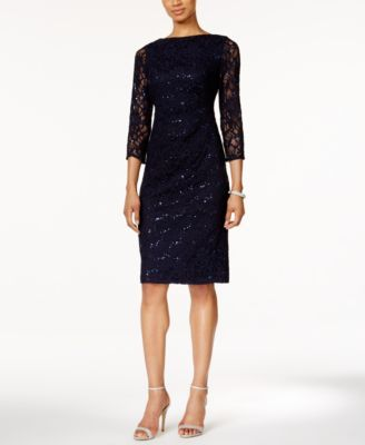 Jessica Howard Sequined Lace Sheath Dress