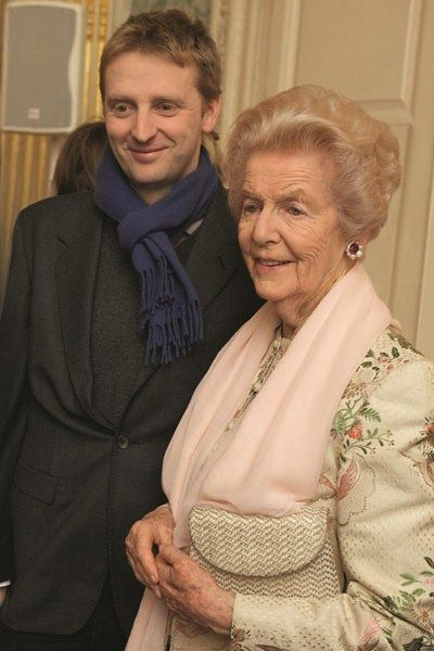 The then Earl of Burlington with his grandmother, who was the Dowager Duchess of Devonshire