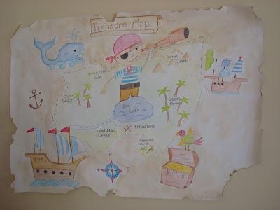 Pirate Map Decoration
