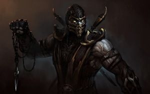 Preview wallpaper mortal kombat, komplete edition, scorpion, art