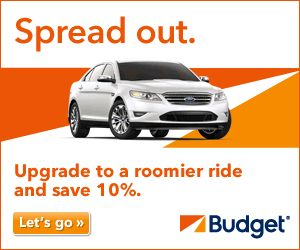 Free Car Upgrade and 10% OFF with Budget Car Rental