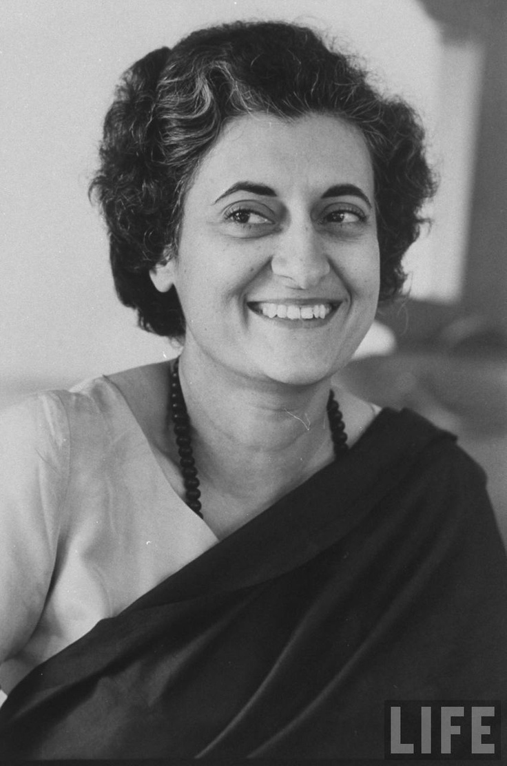 Prime Minister of India Mrs. Indira Gandhi.