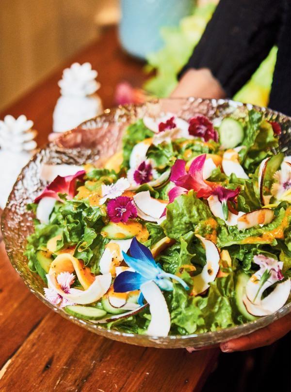 Recette de salade verte et vinaigrette à la papaye de Ricardo