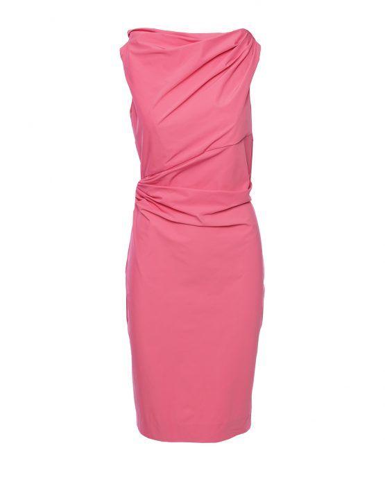 DVF Pink Draped Ameerah Dress Diane Von Furstenberg