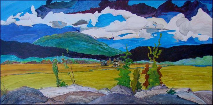 """Valley Creek Medley"" - 24""x48"" original acrylic by Dennis Kalichuk."