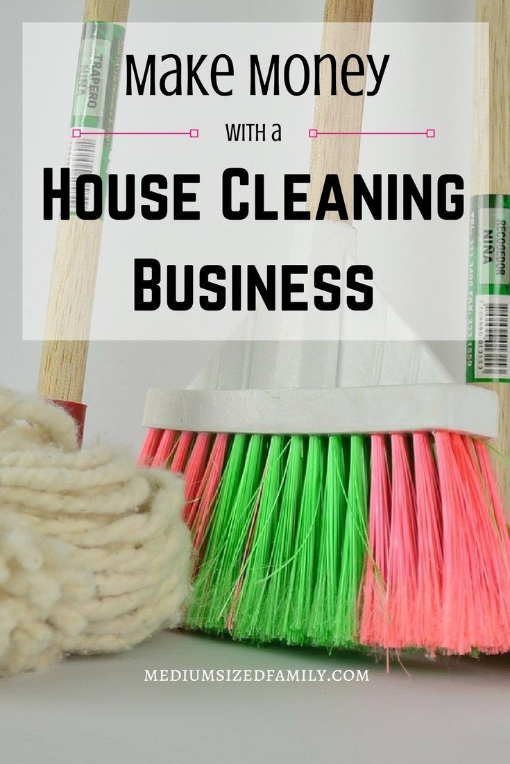 Make money with a house cleaning business. This post gives you house cleaning business ideas plus ways to determine pricing and finding clients. Great way to make money yourself!