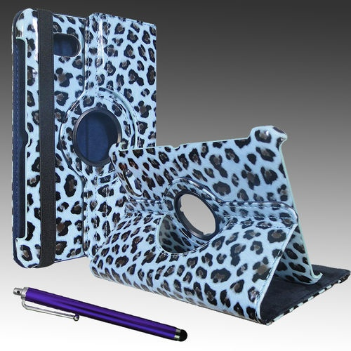 New for Samsung Galaxy TAB2 7 0 Blue Leopard Case with Rotating Stand Stylus | eBay