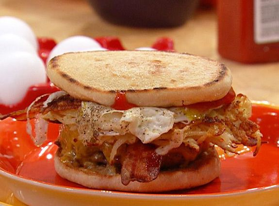 169 best burger central images on pinterest sliders yummy food bacon egg and hash brown brunch burgers from rachael ray ccuart Choice Image