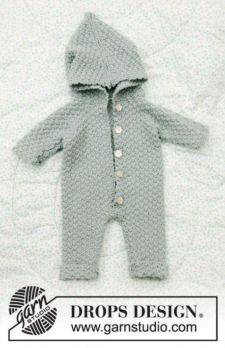 7f1223018 Truly Wooly / DROPS Baby 33-8 - Strikket sparkedragt til baby i ...