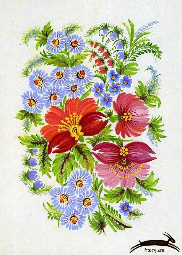 Петриковская роспись картинки цветы, открытки открытка февраля