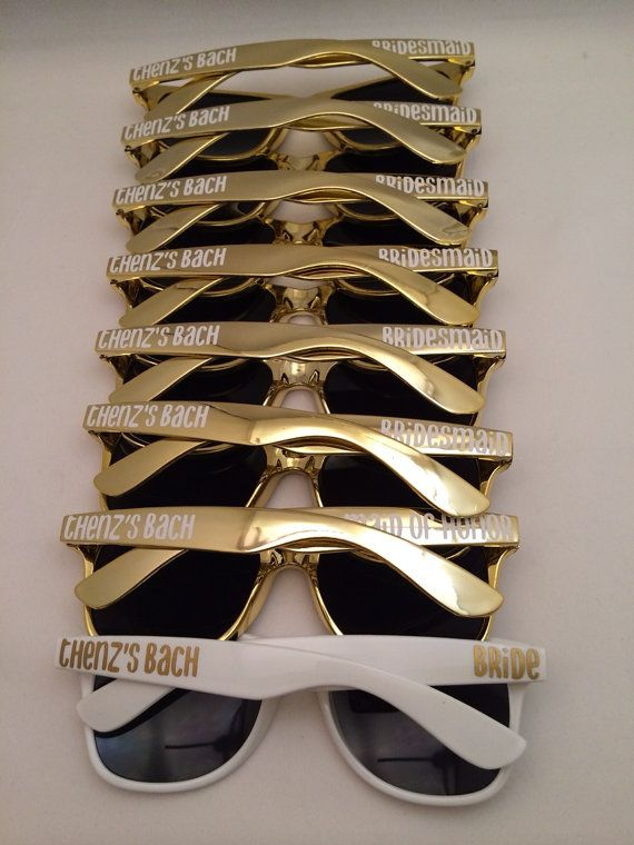 Personalized Sunglasses Wedding Favors by PersonalizedMom on Etsy