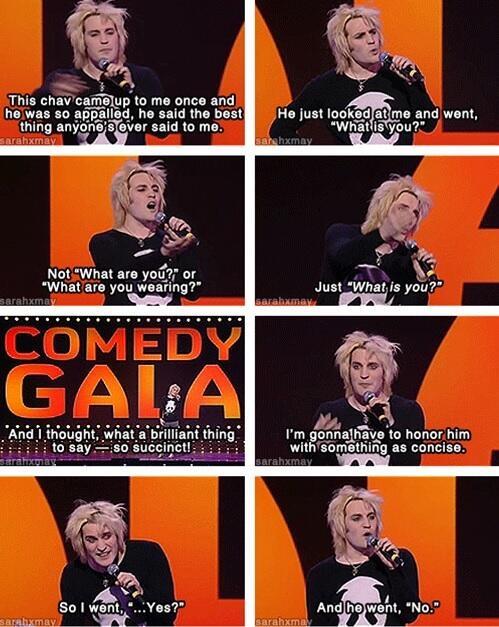 Noel Fielding being hilarious. :)
