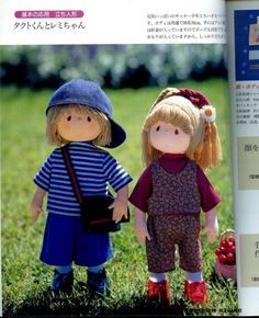 Girl and Boy Doll. Free pattern