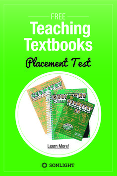 Teaching Textbooks Placement Tests for all levels from grade 3 to pre-calculus • What level is your child in math? Take the placement test to know and to choose the correct level of Teaching Textbooks math homeschool curriculum.
