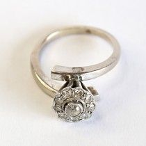 Romance white gold ring with diamonds designing a lovely flower. $790 http://www.astercollection.com/jewelery-selection/romance-white-gold-ring.html