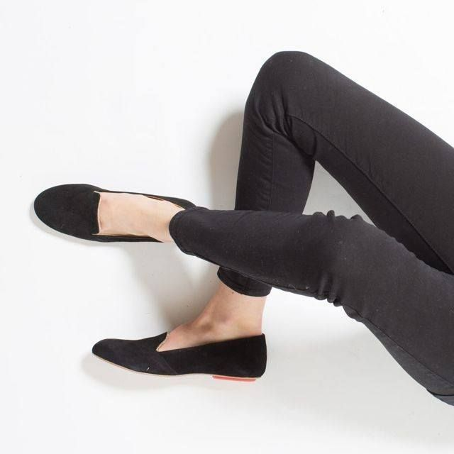 ethical-fashion-Black Suede Loafers - 3