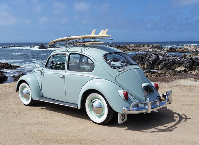 Took baby to the beach today... #vw #volkswagen #vwbeetle #bughead ##buglife #bahamablue #pacificgrove #montereycounty #montereybay #california #centralcoast #surf #surfing #montereybaylocals - posted by Jason Chenoweth https://www.instagram.com/831beachbum - See more of Monterey Bay at http://montereybaylocals.com